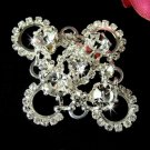Silver Swarovski Crystal Bridal Brooch Pin