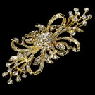 Vintage Gold Crystal Bridal Brooch Pin
