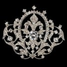 Victorian Vintage Crystal Bridal Brooch Pin Hair Clip