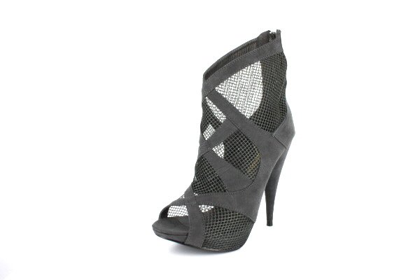 NEW Gray Suede Mesh Platform Ankle Boots Shoes