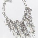 Chicos Silvertone Crystal Dangle Necklace