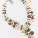 Chicos Goldtone Brown Dangle Necklace