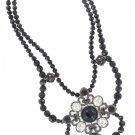 White House Black Market Black Rhinestone Necklace