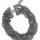 Chicos Chrome Silvertone Chain Necklace