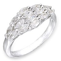 NEW 925 Sterling Silver CZ  Anniversary Ring