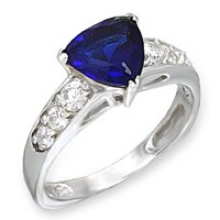 NEW 925 Sterling Silver Montana Blue CZ Ring
