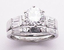NEW 925 Sterling Silver Cubic Zirconia Wedding Ring