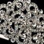 Silver Austrian Crystal Swirl Headband Tiara
