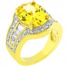NEW 14k Gold Yellow Cubic Zirconia Cocktail Ring
