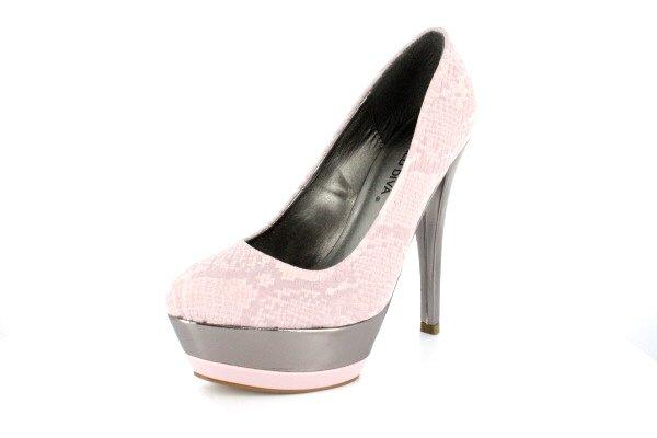 NEW Pink Faux Snakeskin Platform Pumps Shoes
