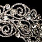Antique Silver Crystal Bridal Tiara Headband