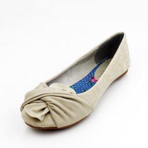 Beige Ballet Flat Womens Shoes