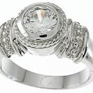 NEW 925 Sterling Silver CZ Antique Engagement Ring
