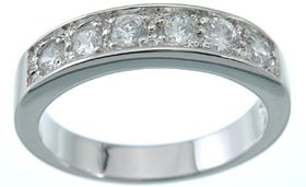 NEW 925 Sterling Silver CZ Eternity Fashion Ring