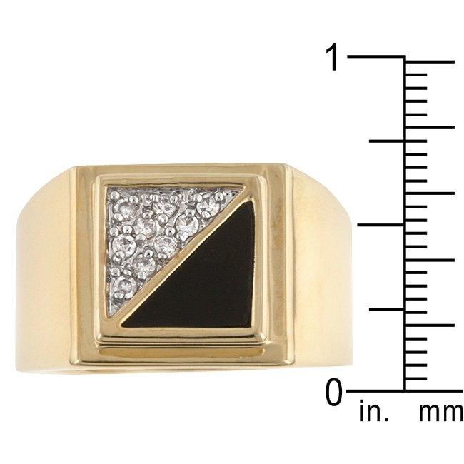White Gold Rhodium14k Gold Bonded CZ Mens Ring