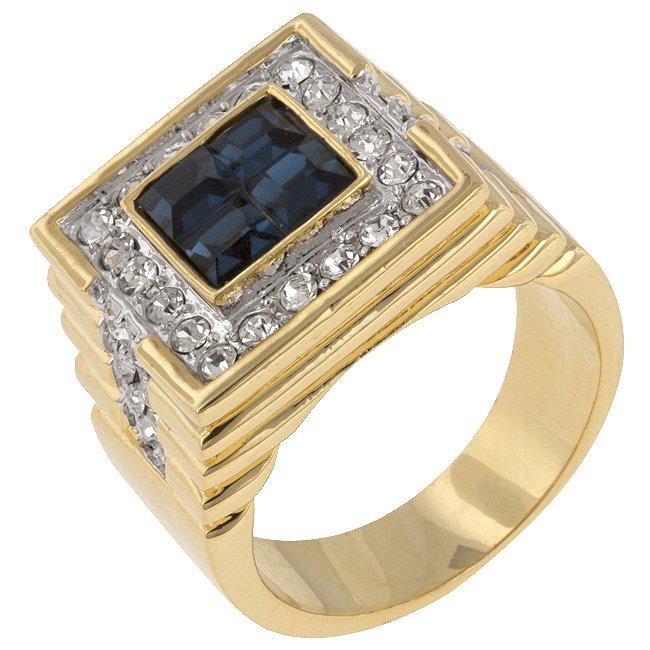 White Gold Rhodium 14k Gold Princess Cut Sapphire Ring