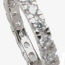 New 925 Sterling Silver CZ Eternity Stackable Ring