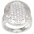 New 925 Sterling Silver CZ Antique Style Ring