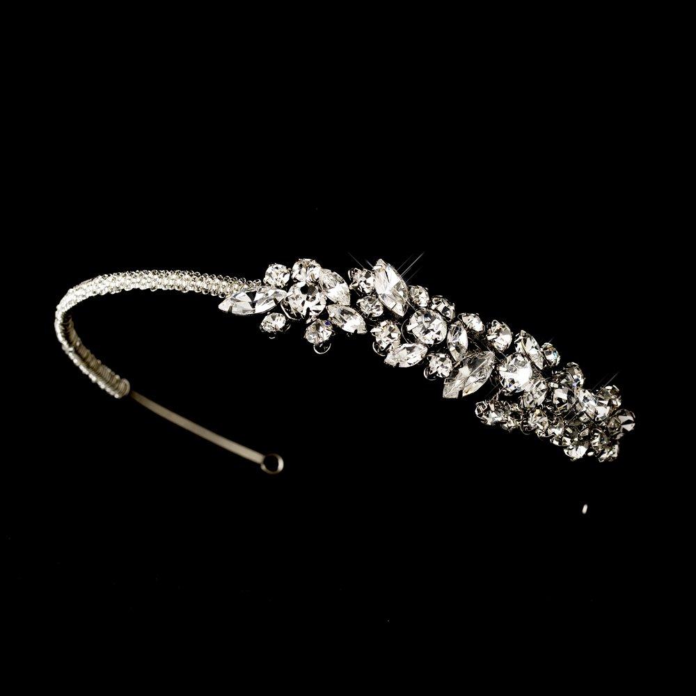 Silver Rhinestone Crystal  Headband Tiara