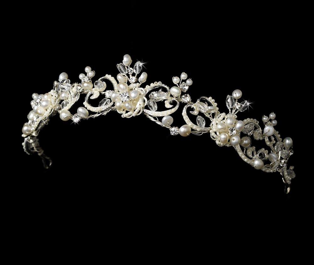 Silver Swarovski Crystal Victorian Headband Tiara
