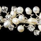 Silver Freshwater Pearls Rhinestone Headband Tiara