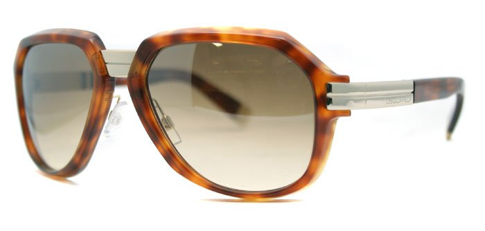 DSquared DQ 0007 53F Tortoise/Brown Unisex Sunglasses