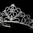 Royal Silver Clear Rhinestone Crystal Bridal Tiara