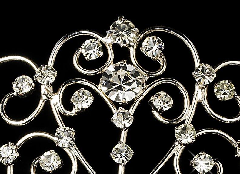 Silver Royal Rhinestone Crystal Bridal Tiara