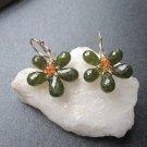 925 Sterling Silver Flower Idocrase Earrings