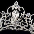 Silver Rhinestone Crystal Elegant Bridal Tiara