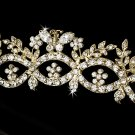 Gold Rhinestone Crystal Butterfly Tiara Headband