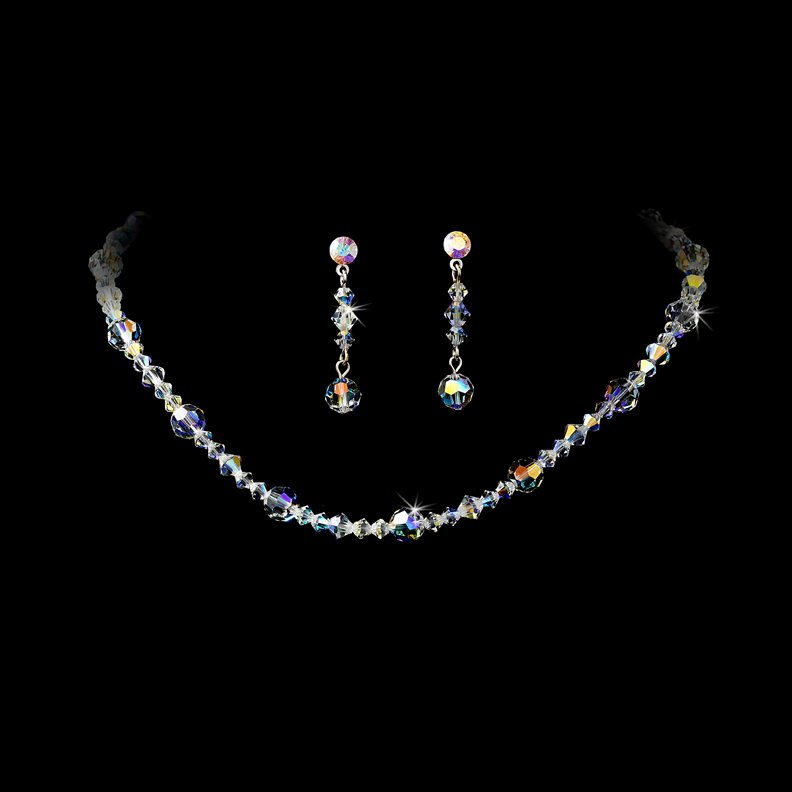 AB Swarovski Crystal Necklace Earring Set