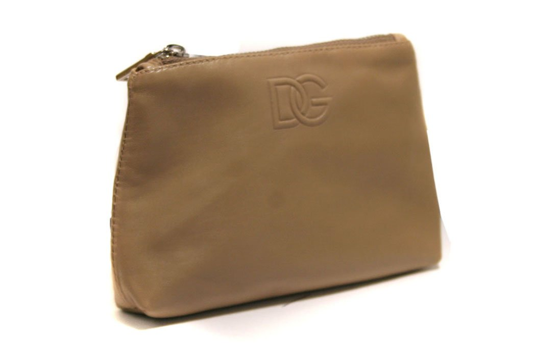 Dolce & Gabbana DG BP2008  Beige Leather Coin Purse