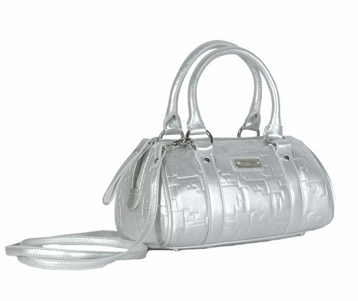 Gianfranco Ferre 67 TXDBHM 80625 Silver Leather Handbag