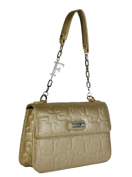 Gianfranco Ferre 67 TXDBHL 80625 Gold Leather Handbag