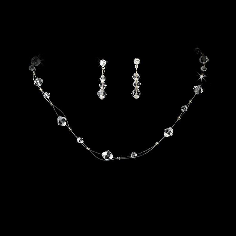 AB Swarovski Crystal Illusion Necklace Earring Set