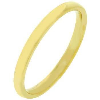 NEW 2mm Gold Bonded Stainless Steel Wedding Band