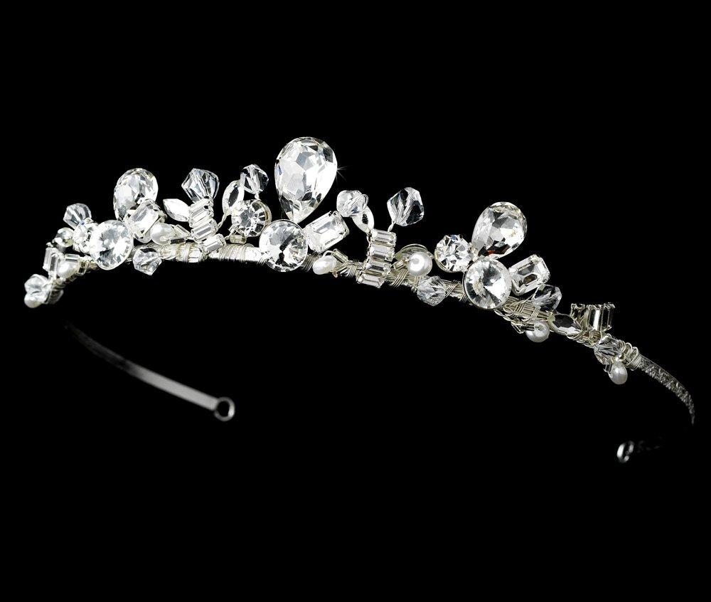 Silver Sparkling Rhinestone Crystal Bridal Tiara