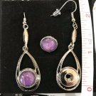Earrings Dangle 12mm  Petite Snap Charm Ginger Snaps Hand painted Snaps