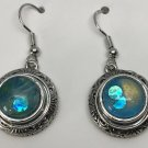 Silver  Dangle12mm  Petite Snap Charm Earrings Ginger Snaps Hand painted Snaps