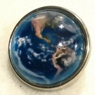 Earth Aerial View Blue Snap 20mm Gingersnaps Jewelry 20mm button Fast Ship