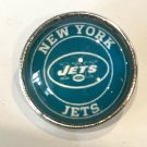 New York Jets football snap button 18mm fit ginger snap Jewelry Fast Shipping