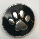 Pet Paw Snap Charm Fit 18-20mm Gingersnaps Jewelry snap button Fast Ship Dog Cat