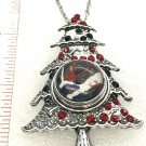 Christmas tree   Snap Necklace 18-20mm  Hand Painted Mothers Christmas Birthday Gift