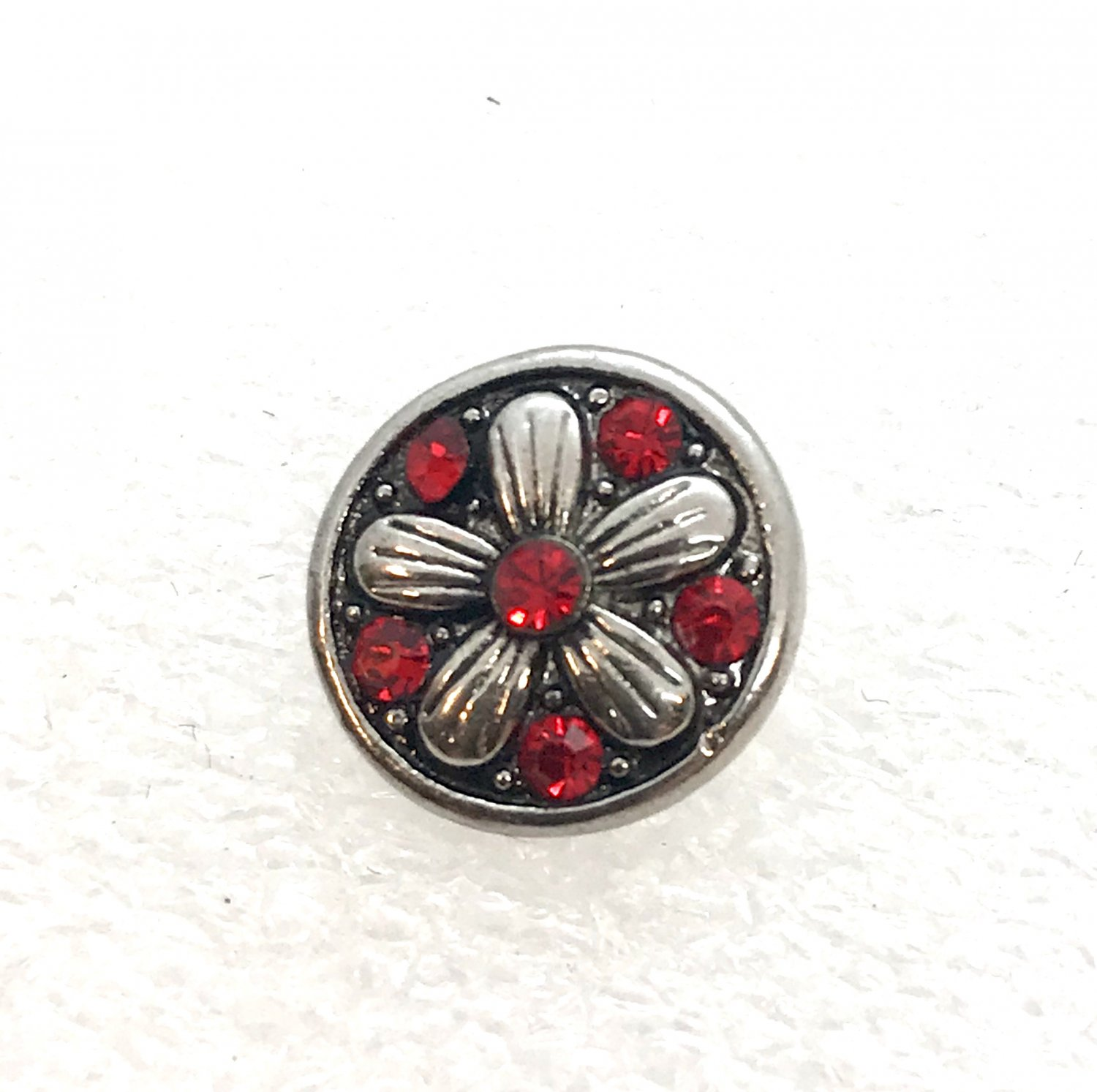 Rhinestone Mini snap button 12mm ginger snap Jewelry Fast Shipping Red