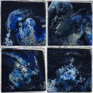"""Coasters set of 4 6x6"""" tile with cork backing Handmade"""