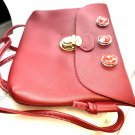 Red Crossbody Purse withHandmade 3x20mm Snaps Clutch RemovableStrap Small Party