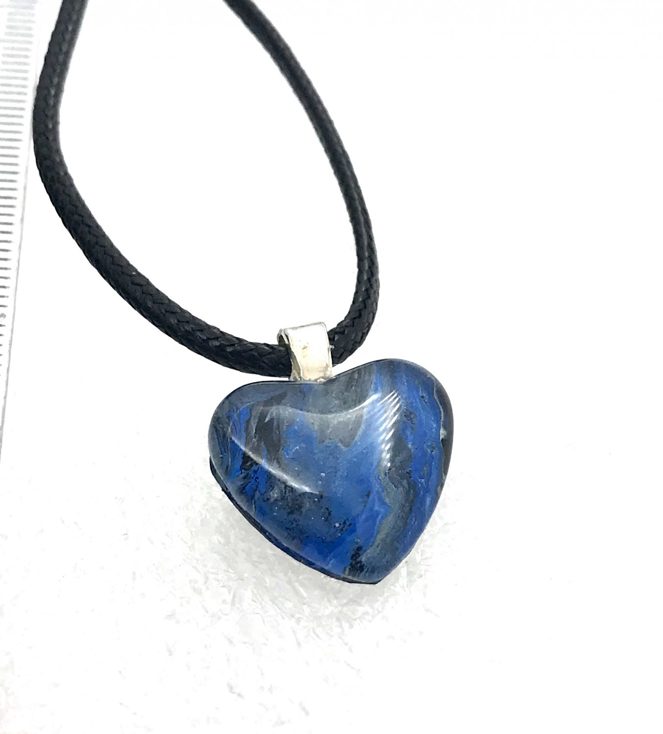 Heart Pendant Hand Painted  Gift small