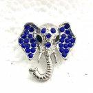 Snap 20mm  Elephant blue crystals