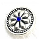 Snap 20mm  Flower blue crystals